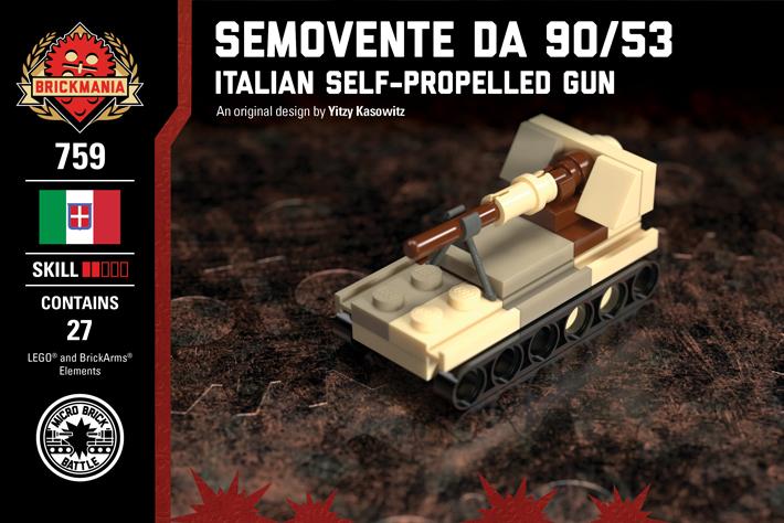 Micro Brick Battle Semovante Da 90/53 – Desert Camo