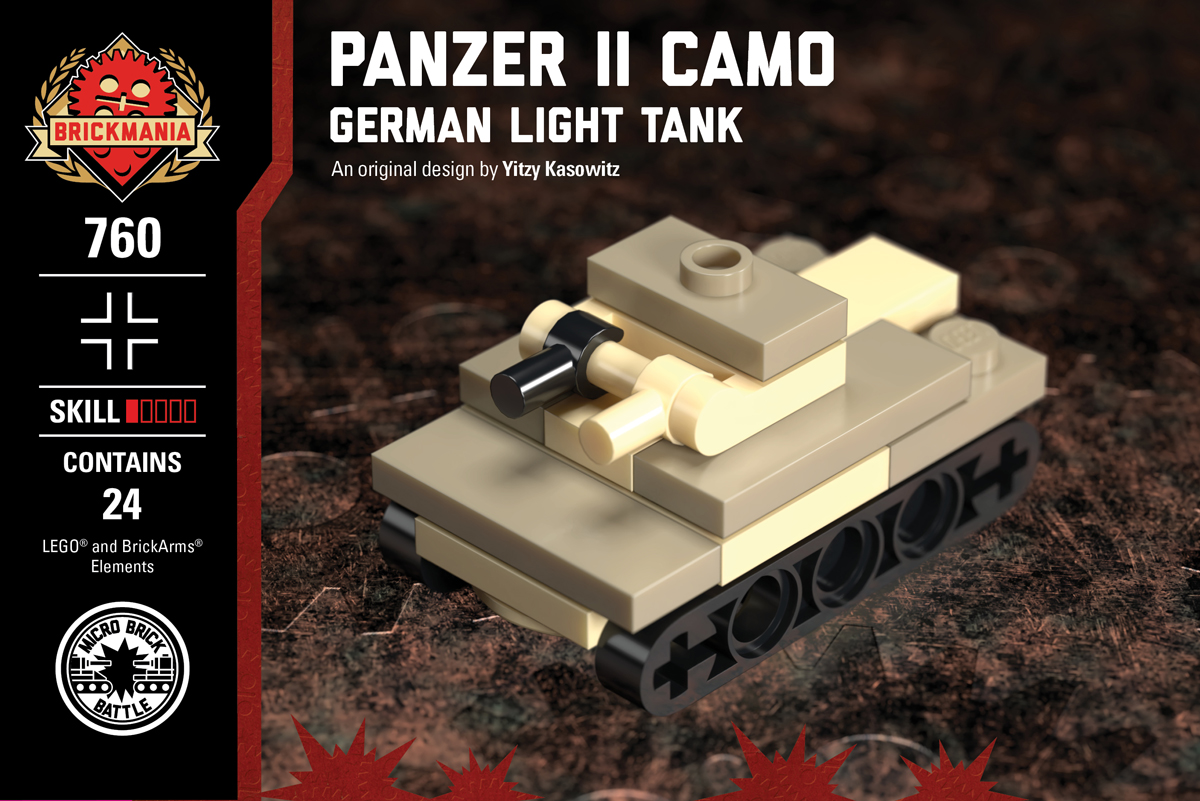 Micro Brick Battle - Panzer II Camo
