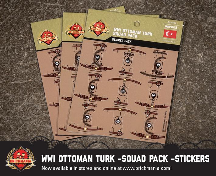 WWI Ottoman Turk - Squad Pack - Stickers